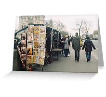 bouquinistes Greeting Card