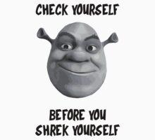 Check Yourself Before You Shrek Yourself (Greyscale) Baby Tee
