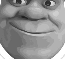 Check Yourself Before You Shrek Yourself (Greyscale) Sticker