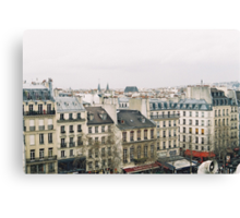 parisian rooftops Canvas Print