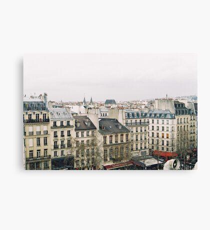 parisian rooftops Canvas Print