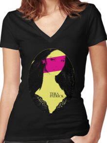 Punk P*rnstars - Tera in Yellow Women's Fitted V-Neck T-Shirt