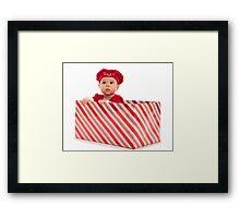 Santa Surprise Framed Print