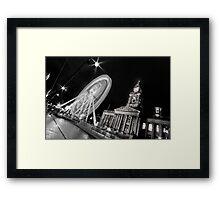Bolton's big wheel (B&W) Framed Print