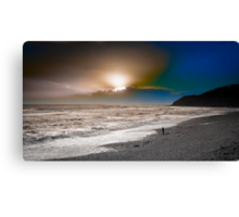 Sunset , Lyme Bay West Canvas Print