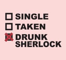 Single Taken Drunk Sherlock by designsbybri