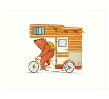 Runaway bear Art Print
