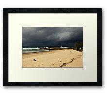 Storm Over Snapper Rocks Framed Print