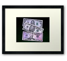 The Ever Changing $50 Dollar Bill - Framed Print