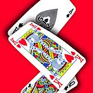 Smartphone Case - Ace King Queen - Red by Mark Podger