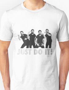 Shia Labeouf Just Do It / Motivational Speech Design Black & White T-Shirt