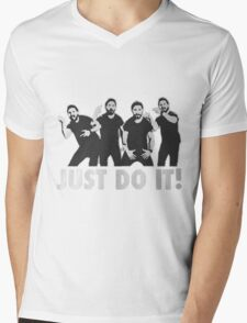 Shia Labeouf Just Do It / Motivational Speech Design Black & White Mens V-Neck T-Shirt