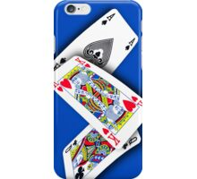 Smartphone Case - Ace King Queen - Blue iPhone Case/Skin