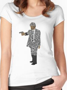 Jules from Pulp Fiction Typography Quote Design Women's Fitted Scoop T-Shirt
