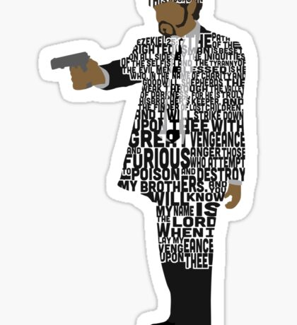 Jules from Pulp Fiction Typography Quote Design Sticker