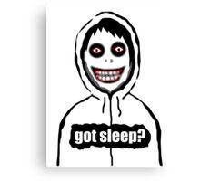 Jeff The Killer Got Sleep? Canvas Print