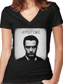 #PATTON Women's Fitted V-Neck T-Shirt
