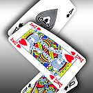 Smartphone Case - Ace King Queen - Metallic by Mark Podger