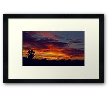 And meanwhile.. out the window.. Framed Print
