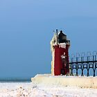 Icy Lighthouse by Carrie Bonham