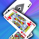 Smartphone Case - Ace King Queen - Blues by Mark Podger