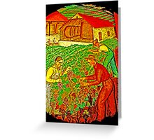 California wine grapes ready Greeting Card