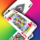 Smartphone Case - Ace King Queen - Rainbow by Mark Podger