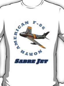 Sabre Jet Designer Tees and Stickers T-Shirt