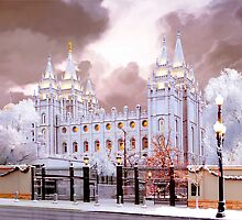 Salt Lake Temple Winter Gate by Ken Fortie