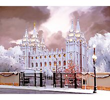 Salt Lake Temple Winter Gate Photographic Print