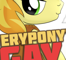 Gay for Braeburn Shirt (My Little Pony: Friendship is Magic) Sticker