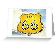 Route 66 Pop Art Greeting Card