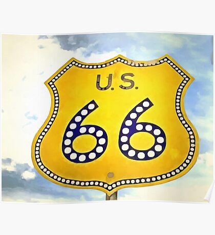 Route 66 Pop Art Poster