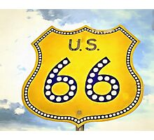 Route 66 Pop Art Photographic Print