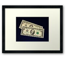 The Classic Old 1995 Five & Ten Dollar Bills - Framed Print