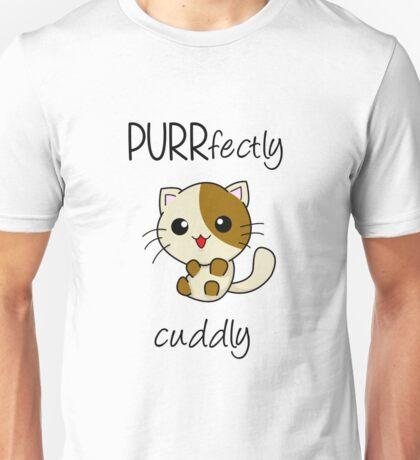 PURRfectly cuddly! ^.^ Unisex T-Shirt