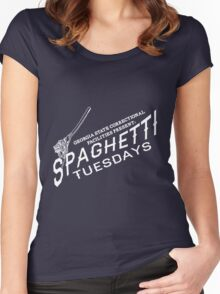 Spaghetti Tuesdays! Women's Fitted Scoop T-Shirt