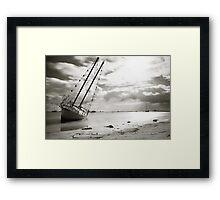 Beached... Framed Print