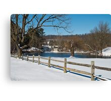 Wintry Scene Canvas Print