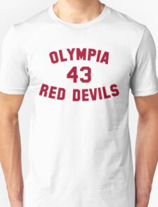 Olympia Red Devils - #43 - Red Text T-Shirt