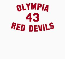 Olympia Red Devils - #43 - Red Text Unisex T-Shirt