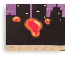 Orbs in the City Canvas Print