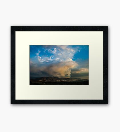 Burning hills Framed Print