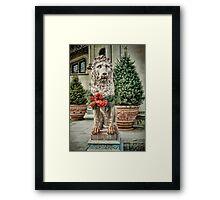 Biltmore Christmas Lion Framed Print