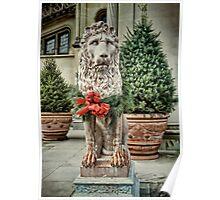Biltmore Christmas Lion Poster