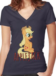 Applejack Shirt (My Little Pony: Friendship is Magic) Women's Fitted V-Neck T-Shirt