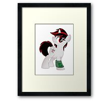 Blackjack T-shirt (from the Project Horizons fanfic) Framed Print