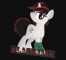Blackjack T-shirt (from the Project Horizons fanfic) by broniesunite