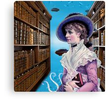 Submarines in the Library Canvas Print