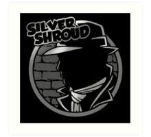 SILVER SHROUD Art Print